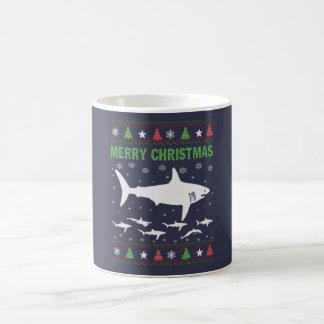 Haifisch-Weihnachten Kaffeetasse