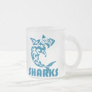 Haifisch-zeitgenössischer Matte Glastasse