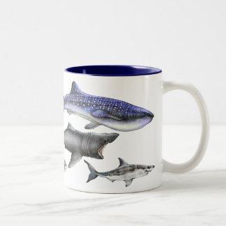 Haifische der Welt Zweifarbige Tasse