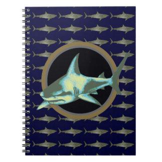 Haifische, gefährlicher Haifisch Spiralblock
