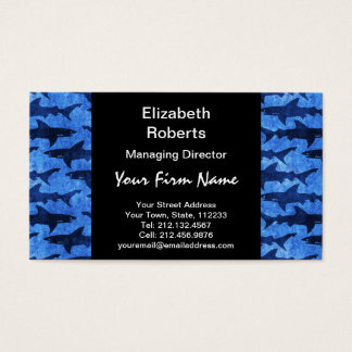 Haifische im tiefen blauen Meer Visitenkarte