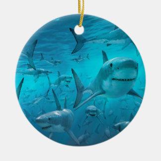 Haifische Keramik Ornament