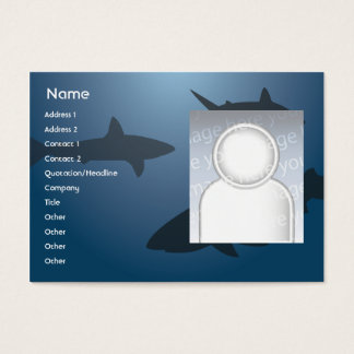 Haifische - mollig Jumbo-Visitenkarten