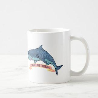 Haifische sind Freunde Kaffeetasse
