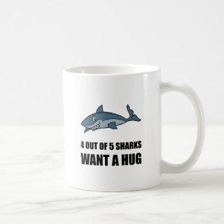 Haifische will Umarmung Tasse