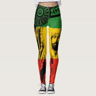 Haile Selassie Gamaschen-Löwe von Judah Entwurf Leggings