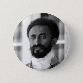 Haile Selassie Runder Button 5,1 Cm