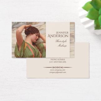 Hairstylist-Friseur-Make-upschönheit CC0017 Visitenkarte