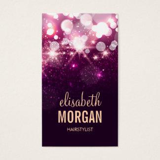Hairstylist - rosa Glitter-Glitzern Visitenkarten