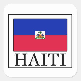 Haiti-Aufkleber Quadratischer Aufkleber