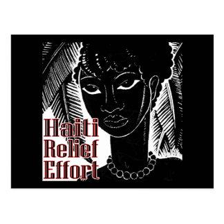 Haiti-Bemühungen Postkarte