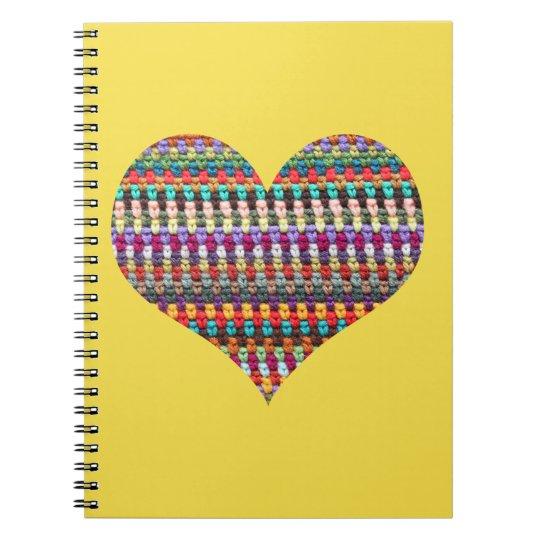 Häkelarbeit-Notizbuch - Notizblock