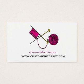 Häkelndes u. strickendes Pink Visitenkarte