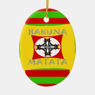 Hakuna Matata schöner fantastischer Entwurf Ovales Keramik Ornament