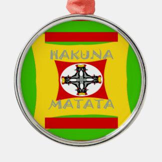 Hakuna Matata schöner fantastischer Entwurf Silbernes Ornament
