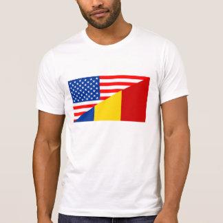 halbe Flagge USA Vereinigter Staaten Amerika T-Shirt