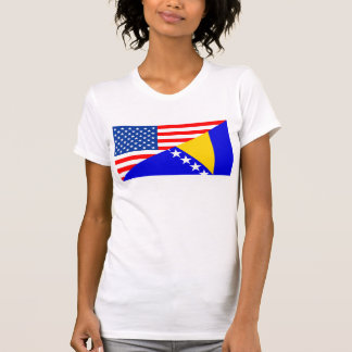 halbe Flagge Vereinigter Staaten Amerika T-Shirt
