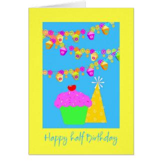 Halbe Geburtstags-Karte Grußkarte