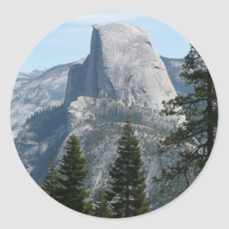 Halbe Haube von Panorama-Spur I Runder Aufkleber