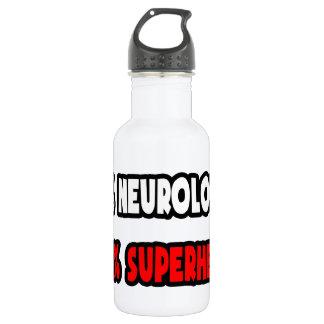 Halber Neurologe-… halb Superheld Edelstahlflasche