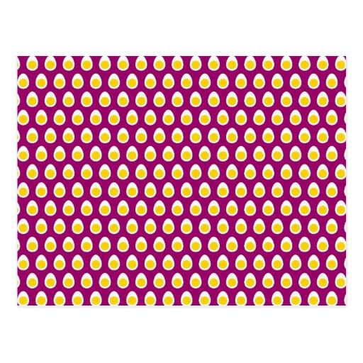 Halbes Ei-Muster Postkarte