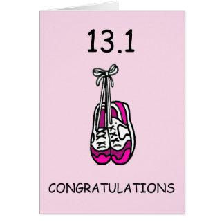 Halbmarathondame, Glückwünsche Karte