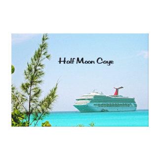 Halbmond Caye Bahamas Leinwanddruck