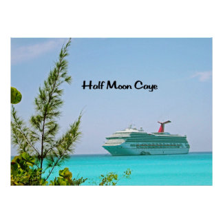 Halbmond Caye Bahamas Poster