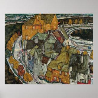 Halbmond der Häuser II, Insel-Stadt durch Egon Poster