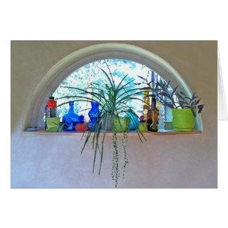 Halbmond-Fenster-Aquarell Grußkarte