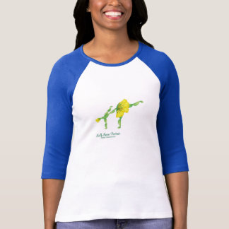 (Halbmond-Lage) 3/4 Hülsen-T - Shirt