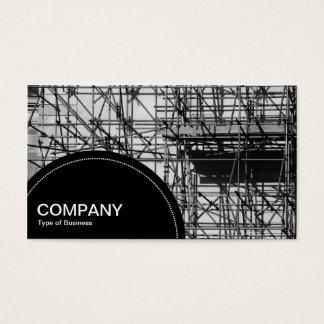 Halbrund-Platte (Punkte) - Baugerüst Visitenkarte
