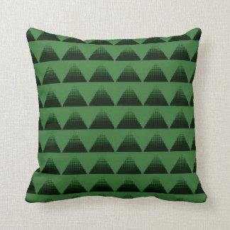 Halbtondreieck-Grün Kissen