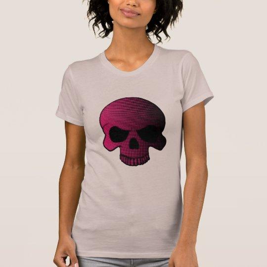 Halftoned rosa Schädel T-Shirt