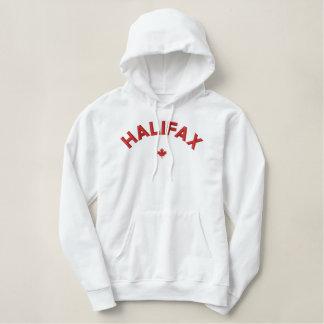 HalifaxHoodie - rotes Kanada-Ahornblatt Bestickter Hoodie