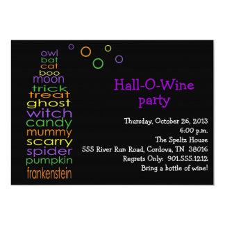 Hall-O-Wein Einladung