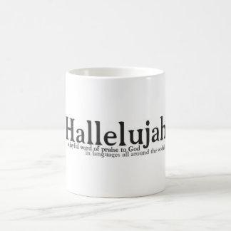 Halleluja, frohen Geräusche des Lobs Tasse