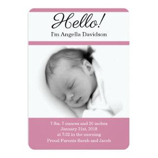 HALLO Baby-Geburts-Mitteilungen Karte