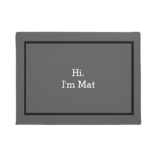 Hallo bin ich Matten-lustige Fußmatte für Haus Türmatte