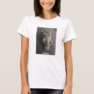 Hallo! Die große britische blaue Katze sagt hallo! T-Shirt