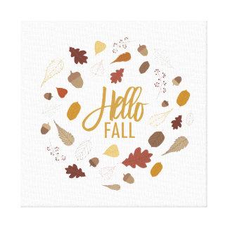 Hallo Fall-Laub-Leinwand Leinwanddruck