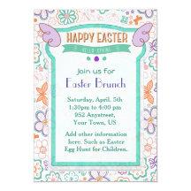 Hallo Frühlings-Blumenostern-Einladung 12,7 X 17,8 Cm Einladungskarte