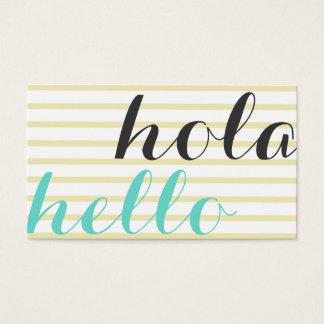 Hallo hello, Dolmetscher, Übersetzer Professor Visitenkarte