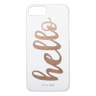 HALLO ist es ich Typografieskript-Bronze iPhone 7 iPhone 7 Hülle
