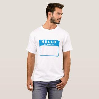 Hallo, ist mein Name (Blau) T-Shirt