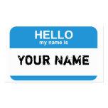 Hallo ist mein Name, Ihr Name Visitenkartenvorlagen
