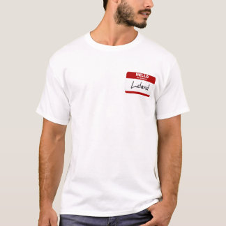 Hallo ist mein Name Leland (rot) T-Shirt