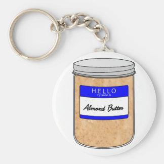 Hallo ist mein Name Mandel-Butter Schlüsselanhänger
