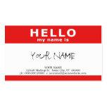 hallo ist mein Name (mit QR Code) Visitenkarten