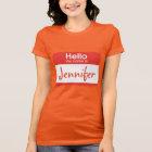 Hallo ist mein Name Namensschild-T-Shirt T-Shirt